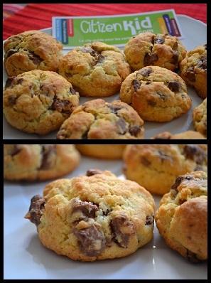 La Recette Du Mardi Des Cookies Au Chocolat Fait Maison Citizenkid Le Blog