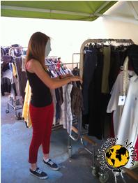 Collecte de vêtements par Solidarité Afrique